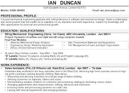 writing an engineering resumes mechanical engineering cv example