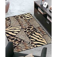 1pc 33 x 411ft black beige ivory multiple safari animal themed area rug jungle african rectangle
