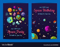Space Party Invitation Space Birthday Party Invitation Templates