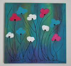 Tableau Moderne Abstrait Colore Tableau Contemporain Fleurs