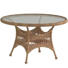 wicker dining table base brown rattan with gl chairs for modern