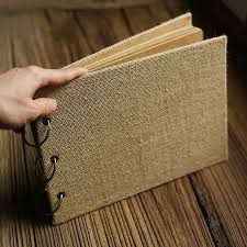 retro photo album rectangular cross retro burlap diy handmade scrapbook album