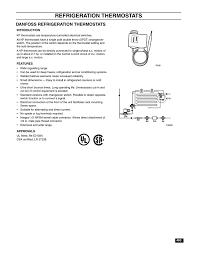 Danfoss Refrigeration Thermostats Manualzz Com