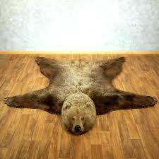 bear head rug faux polar bear rug bear rug for grizzly bear taxidermy rug mount bear head rug