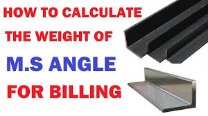 How To Calculate The Weight Of M S Angle For Billing By Learning Technology