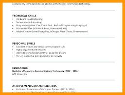 Leadership Skills Resume Phrases Elegant Personal Computer Skills