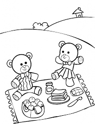 Small Picture Picnic Coloring Pages Teddy Bears Picnic Coloring Page Free