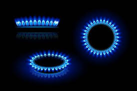 gas stove flame. Illustration Of Gas Stove In Three Views On Dark Background Stock Vector - 42797804 Flame