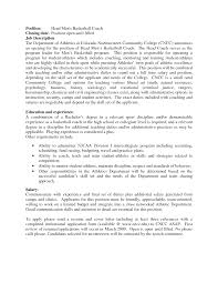 Soccer Coach Cover Letter 100 Images Soccer Coaching Resume
