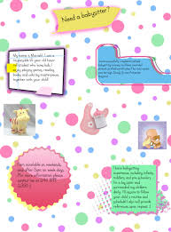 flyer design images gallery category page com 7 images of examples of good babysitting flyers