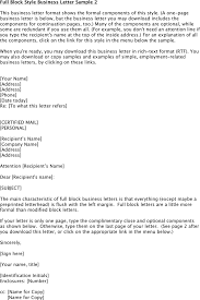 Collection Of Solutions Sample Business Letter Format With