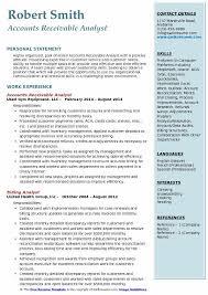 Accounts Receivable Resume Examples Accounts Receivable Analyst Resume Samples Qwikresume