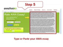 essay rater for gmat awa gre toefl how to guide step 5type or paste your awa essay
