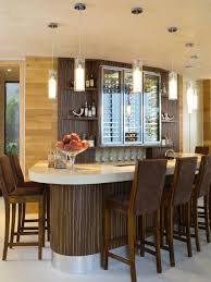 ... modern wine bar decor idea with glass bottle storage also cafe pendant  lights fabulous country basement ...