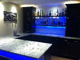 basement bar lighting. cold spring granite bar with led lighting modernbasement basement
