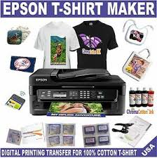 T Shirt Editing Software Details About Epson Wf Printer Plus Bundle Starter Kit Transfer T Shirt Bags Mouse Pad