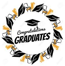Congratulations For Graduation Congratulations Graduates Typographic Round Banner With Graduation