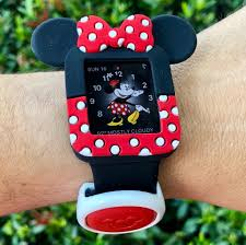 Light Pink Disney Magic Band Minnie Apple Watch Soft Cover