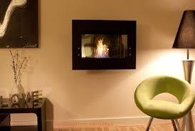 a wall mounted ethanol fireplace