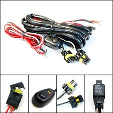 amazon com ijdmtoy (1) 9005 9006 h10 relay harness wire kit with 9006 Hid With Relay Wiring Diagram amazon com ijdmtoy (1) 9005 9006 h10 relay harness wire kit with led light on off switch for aftermarket fog lights, driving lights, hid conversion kit, HID Headlight Wiring Diagram