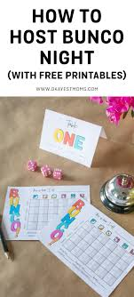 Bunco Payout Chart 10 How To Host A Bunco Night Okayest Moms
