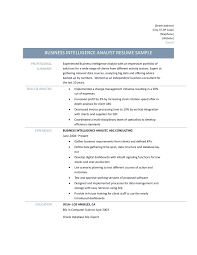 Business Intelligence Sample Resume Alluring Resume Business Intelligence Manager About Business 21