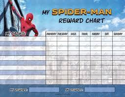 Marvel Reward Chart Printable Digital Marvel Spiderman Printable Reward Chart With Blank Tasks High Resolution Jpg File Instant Download Not Editable Ready To Print