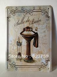 Wall Decor 10 Vintage Metal Bathroom Wall Decor Newsonairorg inside