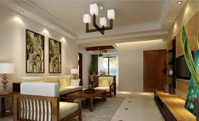 Decorations  Cool Studio Interior With Excllent Wall Accent And Cool Living Room Lighting