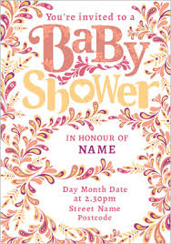 Baby Shower Invitation Cards Rhapsody Baby Shower Card Hearts