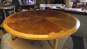 mid century modern lane acclaim round 47 dovetail coffee table finish