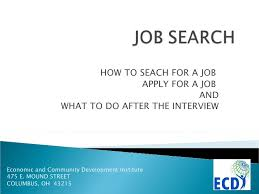 how to do job search job search powerpoint