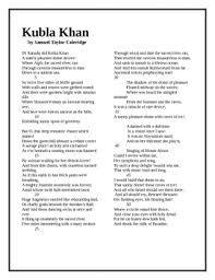 kubla khan coleridge study guide questions and text homework kubla khan coleridge study guide questions and text
