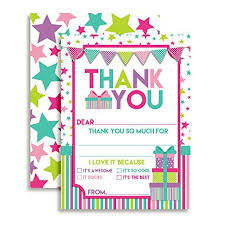 Blank Thank You Notes Stars Presents Thank You Notes Girl