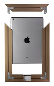 assembly view floine bronze ipad air 1 2 wall frame mount