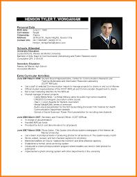 6 Formal Resume Sample Addressing Letter