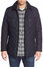 Men's Quilted, Puffer & Down Jackets | Nordstrom & Barbour 'Akenside' Regular Fit Quilted Jacket. BLACK; NAVY Adamdwight.com