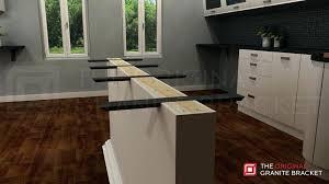 kitchen countertop supports steel brackets flat wall bracket by the original granite bracket full install view kitchen countertop supports