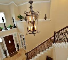 wrought iron foyer chandelier