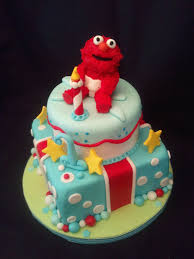 Elmo Birthday Cake Elmo 1st Birthday Cake Frosted With Emotion