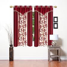 Designer Curtains Flipkart Ville Style Polyester Window Curtain 152 Cm 4 Ft Pack Of 2