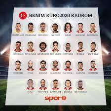 2020 Avrupa futbol şampiyonası Benim EURO 2020 Milli Takım Kadrom