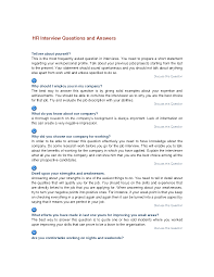 best photos of interview questions and answers common job hr interviews question and answers