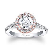 barkev s two tone halo engagement ring 7933lt