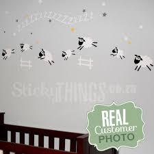 sheep wall sticker on wall art stickers baby room with sheep baby room wall sticker sheep wall decal stickythings za