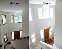 comfortable painting trim and doors before and after entry way painting oak trim and doors white