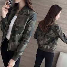 New Spring <b>Korean</b> Style <b>Female Short</b> Slim Camouflage <b>Leather</b> ...
