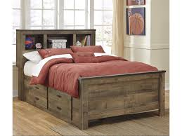 Trevor Rustic Look Full Bookcase Bed with Under Bed Storage by Trendz at Ruby Gordon Home