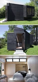backyard guest house. Clad In Black Timber, This Backyard Guest House Is Just The Right Size For A Visiting Friend Or Family Member, And Features Number Of Windows That Help