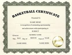 Basketball Award Certificate Templates Barca Fontanacountryinn Com